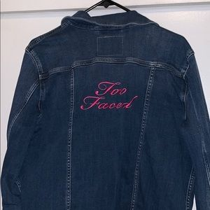 Too Faced Levi's denim jacket